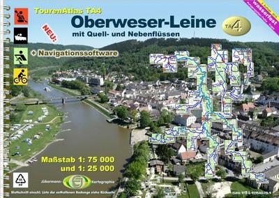 TourenAtlas TA4: Oberweser-Leine