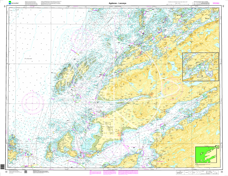 Norwegen N 43 Atlantik von Agdenes bis Lauvøya