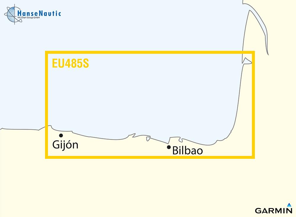 BlueChart Atlantik, spanische Biskaya (Fuenterrabia Gijon) g3 Vision VEU485S