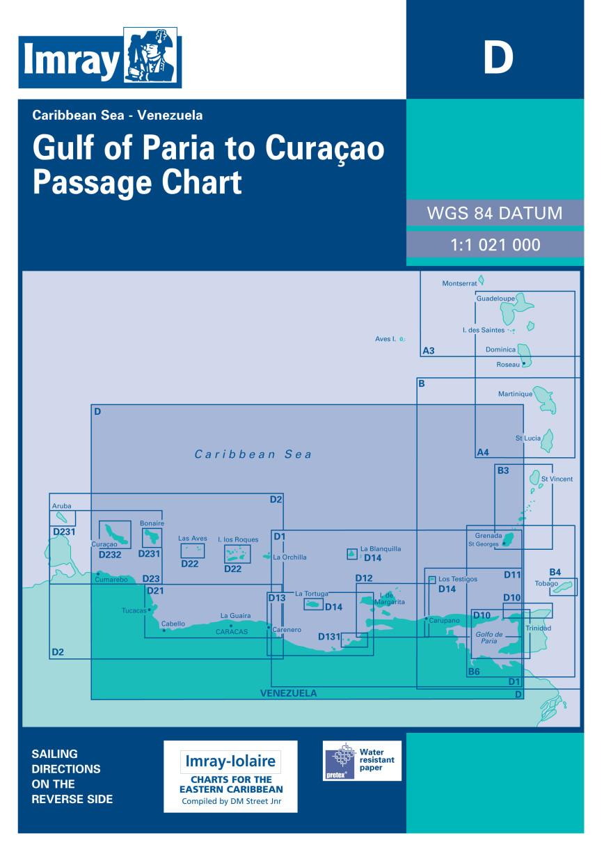 IMRAY CHART D Golfo de Paria to Curaçao Passage