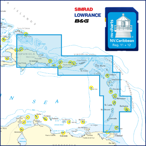 NV Karibik & Bermuda Plottersekarte