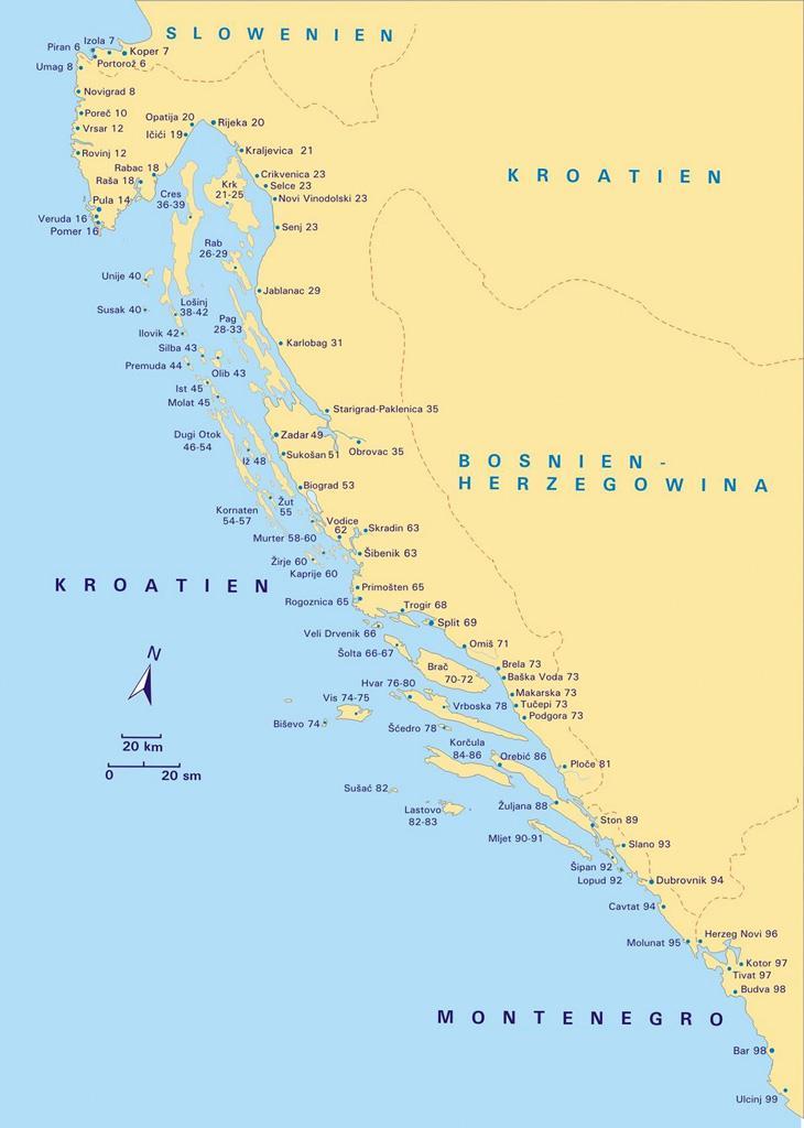 888 Häfen und Buchten Kroatien, Slowenien, Montenegro