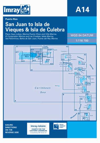 IMRAY CHART A14 San Juan to Isla de Vieques and Isla de Culebra