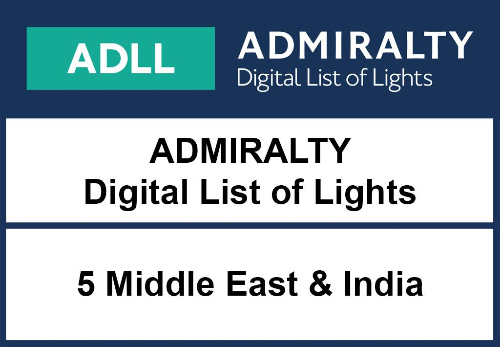 ADMIRALTY DigitalLightsList - Area 5 Middle East and India