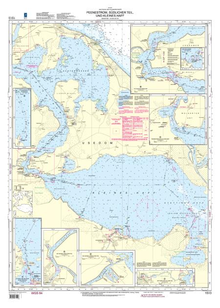BSH 1513 Peenestrom, südlicher Teil und Kleines Haff