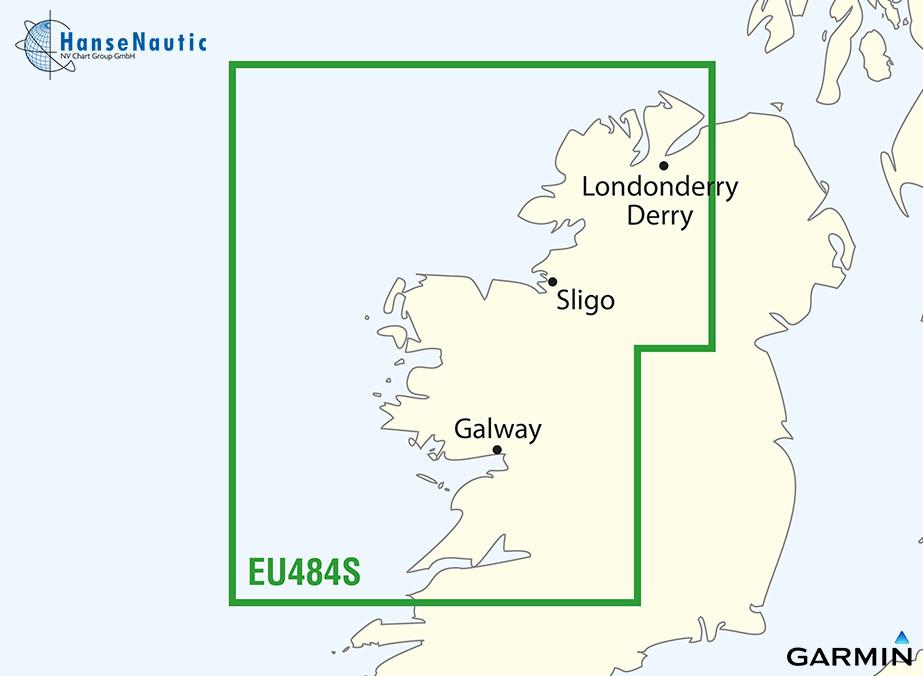BlueChart Irland, Nordwestküste g3 Vision VEU484S