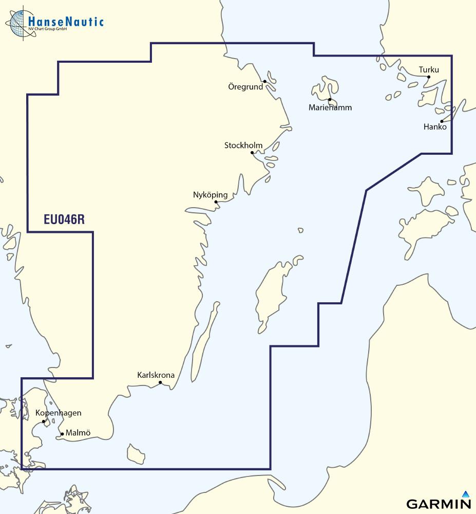 BlueChart Schweden Ostküste (Malmö bis Aland) g3 XEU046R