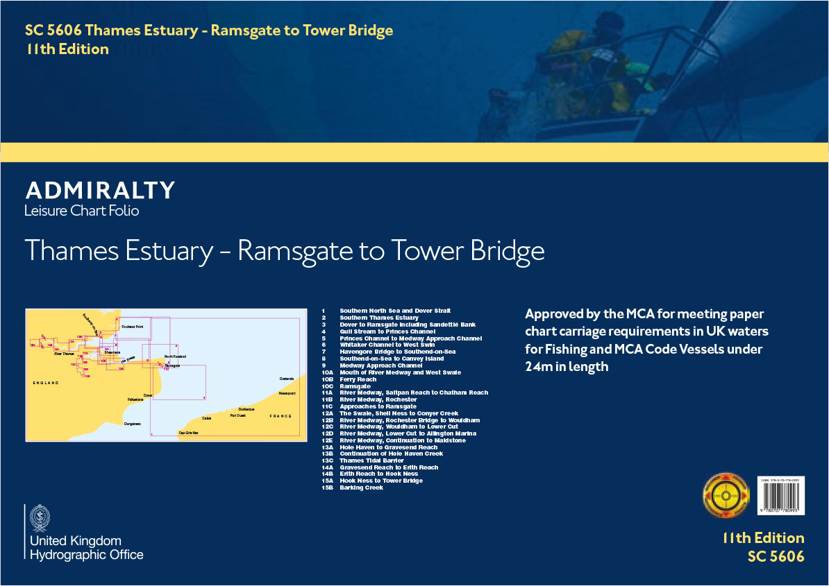 SC5606 Thames Estuary, Ramsgate to Tower Bridge