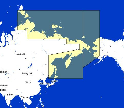 MapMedia C-Map Wide Vector Chart:MWVJRSM002MAP Russian Federation North East