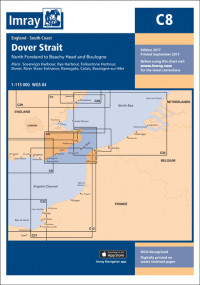 IMRAY CHART C8 Dover Strait North Foreland to Beachy Head and Boulogne