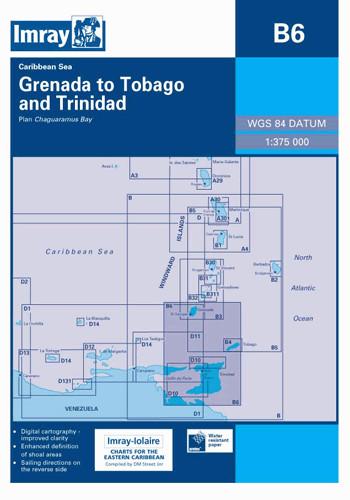 IMRAY CHART B6 Grenada to Tobago and Trinidad passage chart