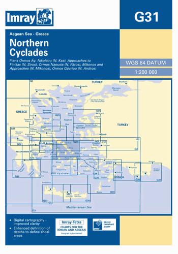 IMRAY CHART G31 Northern Cyclades
