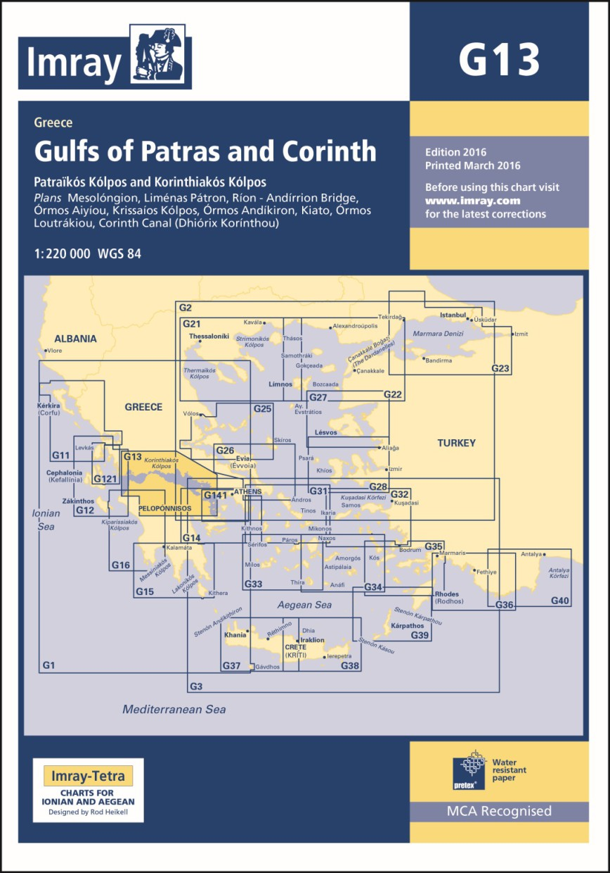 IMRAY CHART G13 Gulfs of Patras and Corinth