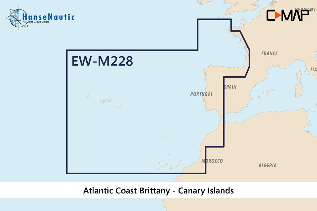 C-MAP MAX Wide EW-M228 West European Coasts