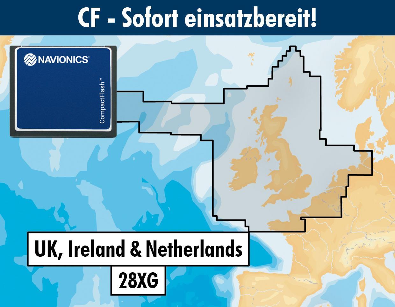Navionics+ CF 28XG UK, Irland & Niederlande