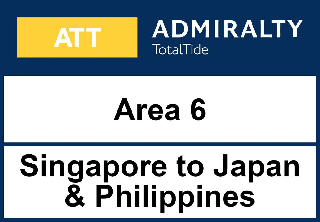 ADMIRALTY TotalTide Area 6 Singapore to Japan and Philippines