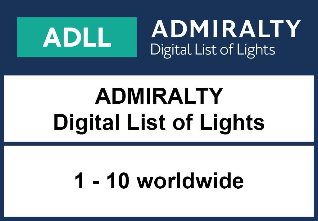 INAKTIV ADMIRALTY DigitalLightsList - Area 1-10 worldwide
