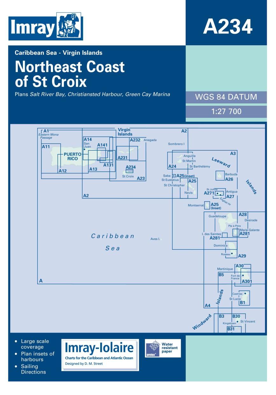 IMRAY CHART A234 Northeast Coast of St Croix