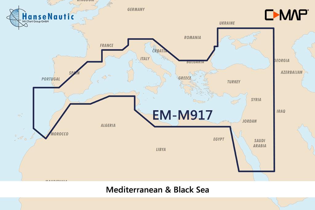 C-MAP MAX MegaWide EM-M917 Mediterranean & Black Sea