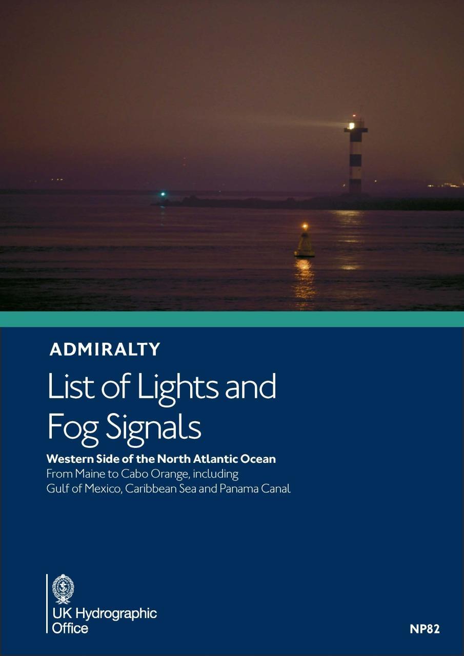 ADMIRALTY NP82 Lights List J - Caribbean & US East Coast inc. Bermuda