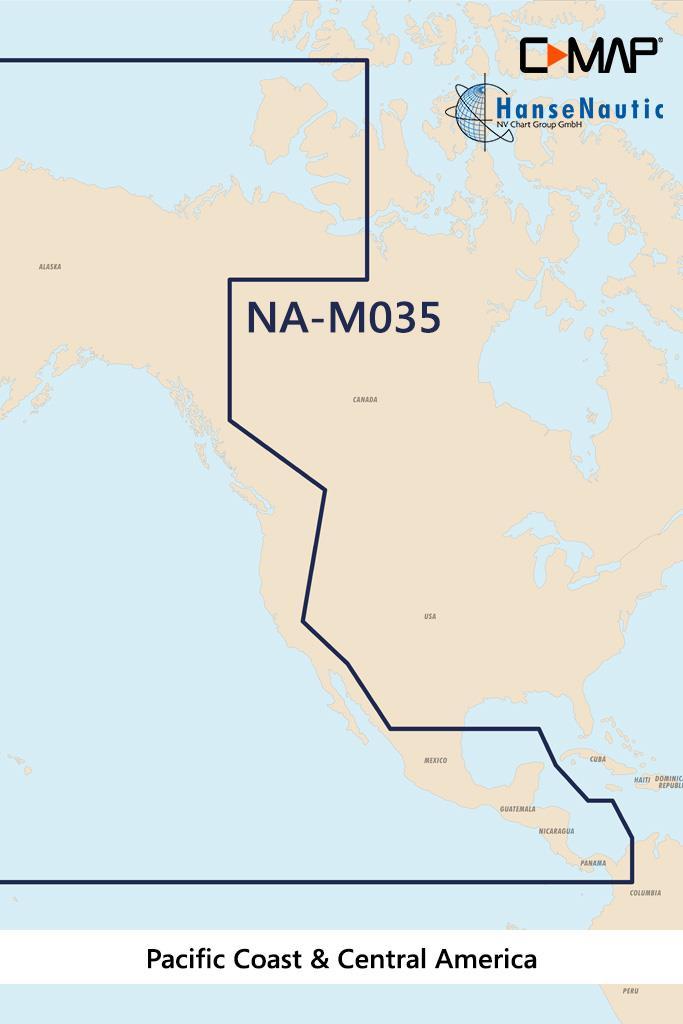 C-MAP MAX MegaWide NA-M035 Pacific Coast & Central America