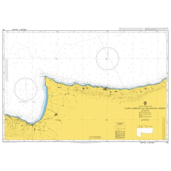 Cape Limniti to Stazousa Point. UKHO776