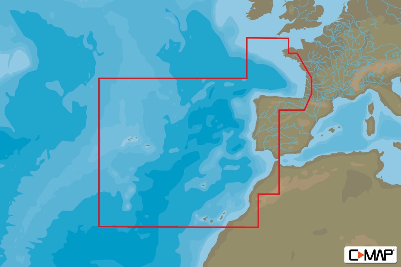 C-MAP 4D MAX+ Wide EW-D228 West European Coasts