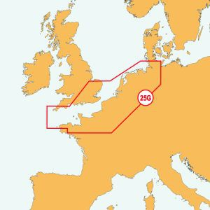 Navionics 25P+ SD UK Süd bis Hamburg