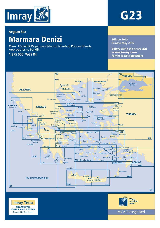 IMRAY CHART G23 Marmara Denizi