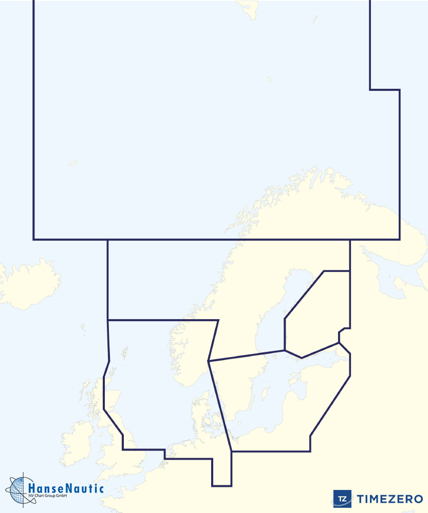 Timezerokarte Nordsee und Ostsee