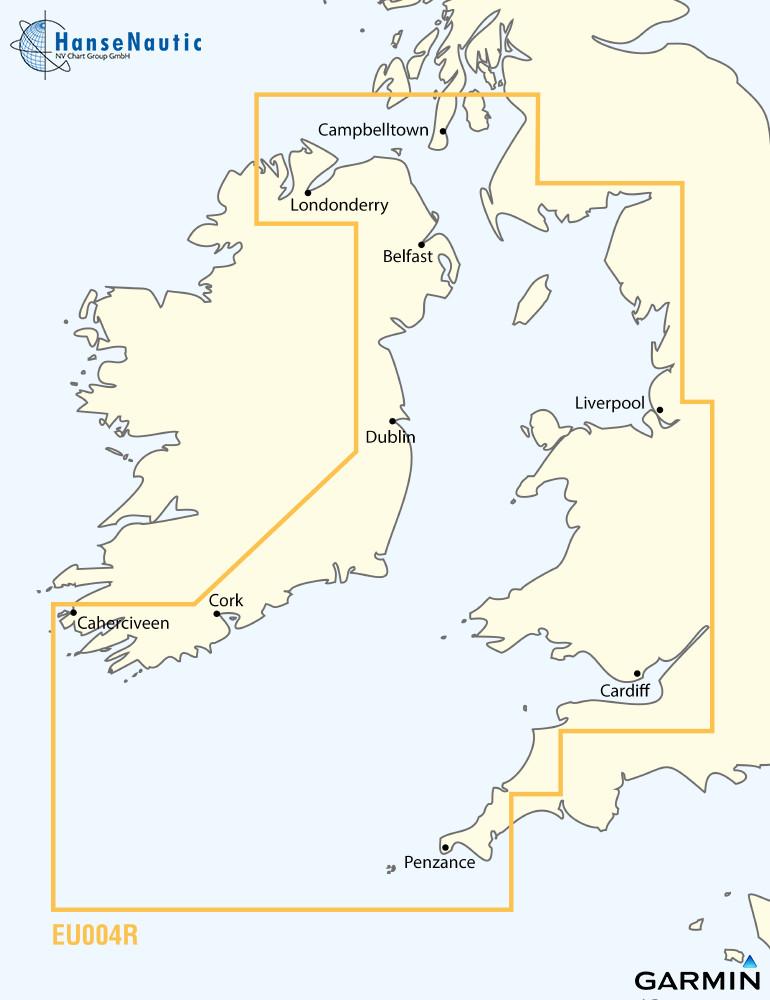 BlueChart Irische See, Nordirland bis Cornwall, g3 XEU004R