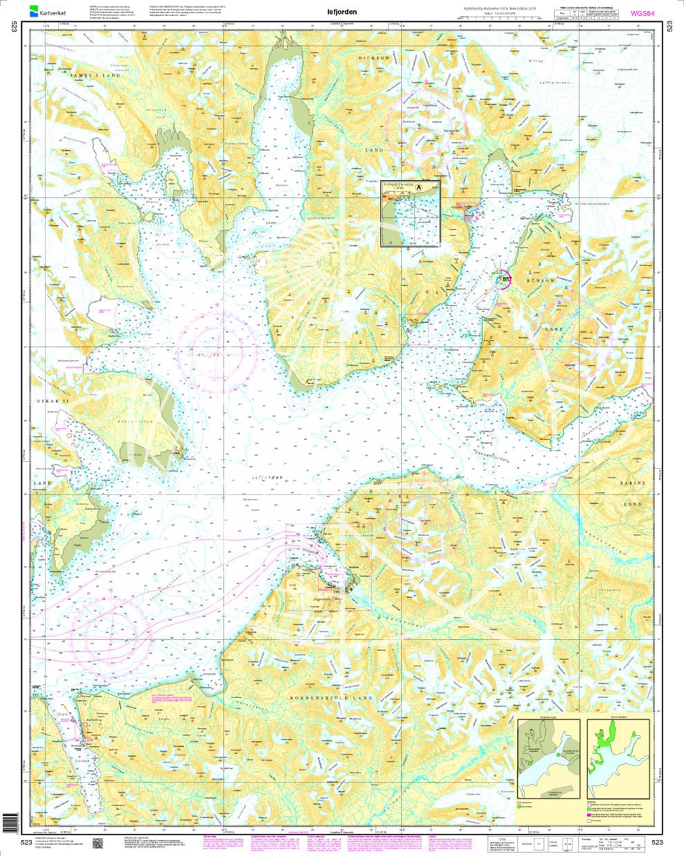 Norwegen N 523 Spitzbergen Isfjorden