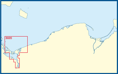 BSH 3020 Zatoka Pomorska, Zalew Szczecinski/Pommersche Bucht, Stettiner Haff