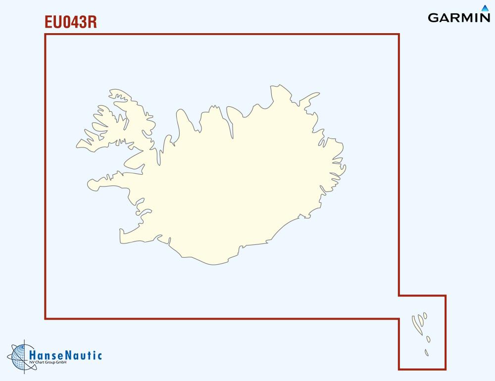 BlueChart g3 Vision Chip Regular VEU043R-Iceland & Faeroe Islands