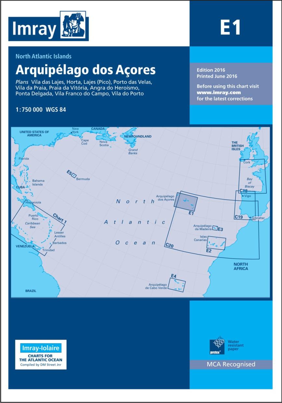 IMRAY CHART E1 Arquipelago dos Açores