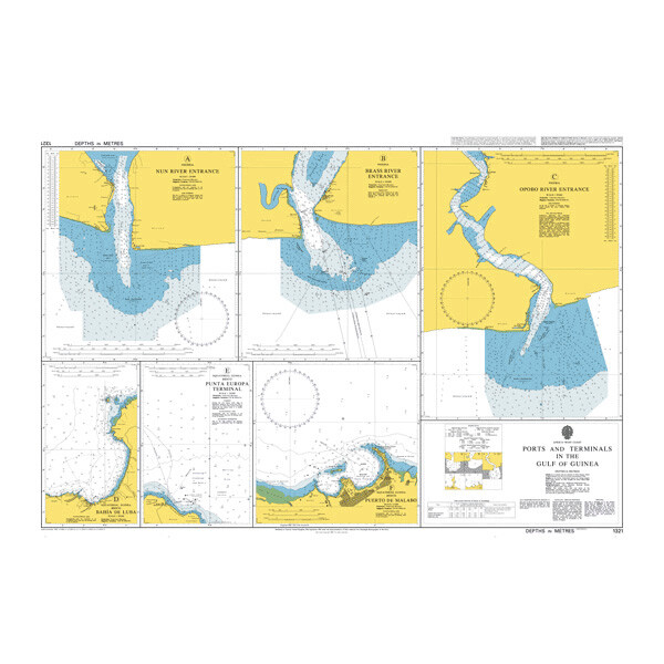 Ports and Terminals in the Gulf of Guinea. UKHO1321