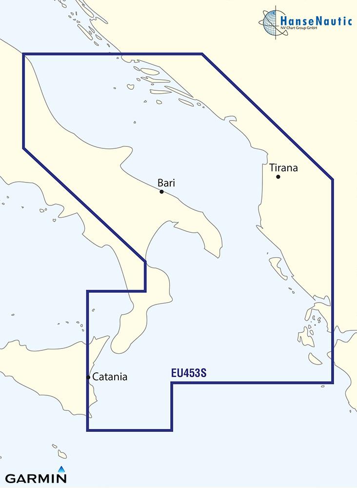 BlueChart Adria Süd - Dalmatien, Albanien, Korfu - g3 Vision VEU453S