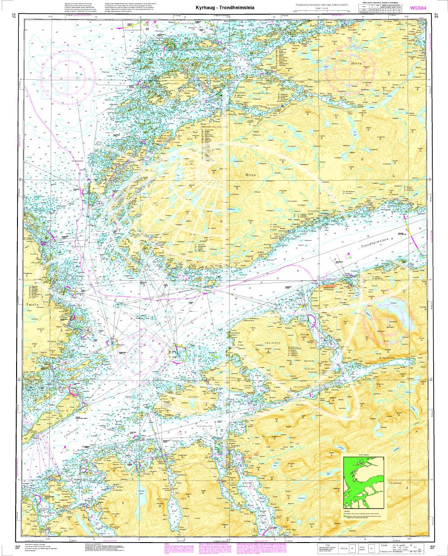 Norwegen N 37 Atlantik vom Leuchtfeuer Tyrhaug bis Trondheimsleia
