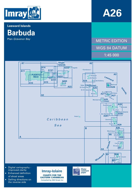 IMRAY CHART A26 Barbuda