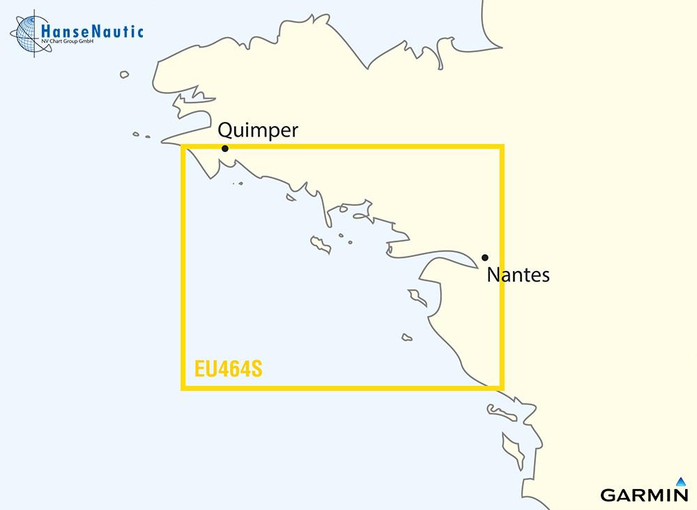 BlueChart Atlantik Süd-Bretagne (Penmarch-Les Sables d'Olonne) g3 Vision VEU464S