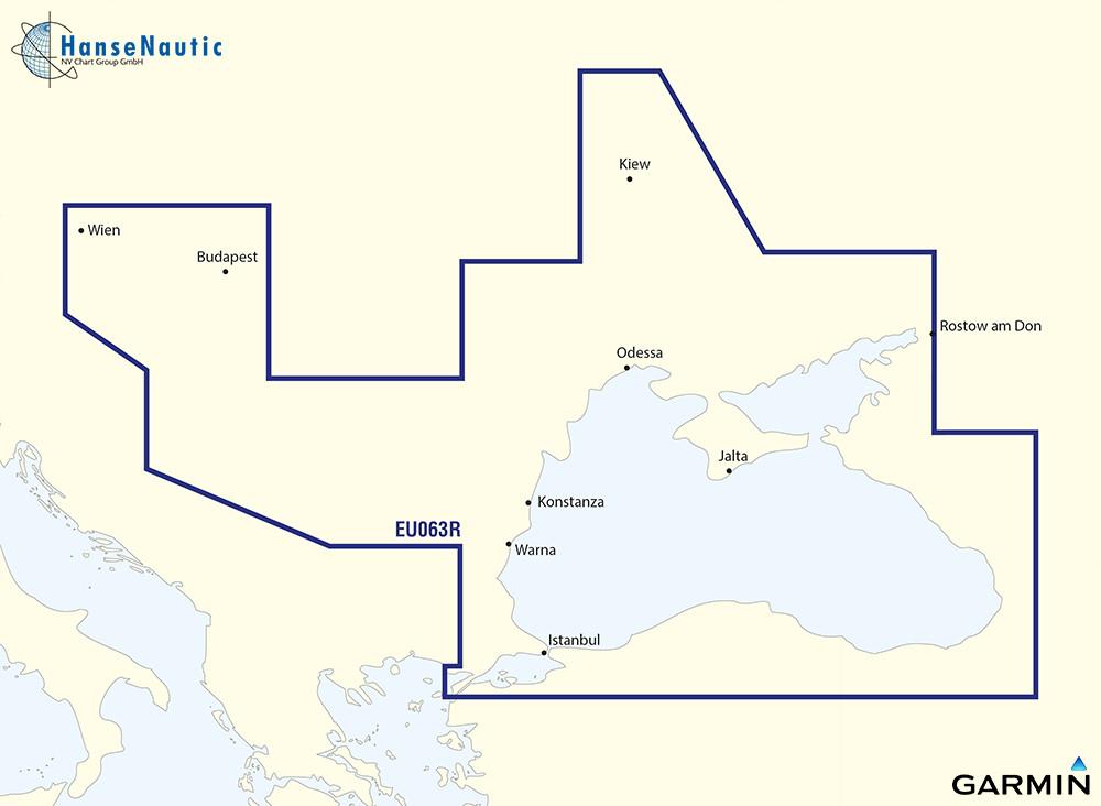BlueChart Schwarzes Meer, Azovsches Meer, Donau bis Wien - g3 XEU063R