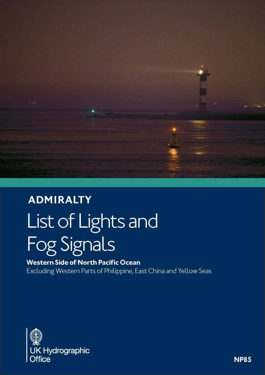 ADMIRALTY NP85 List of Lights and Fog Signals Vol M - North Pacific