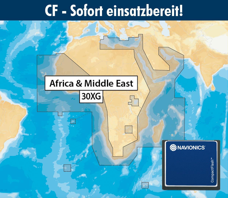 Navionics+ CF 30XG Afrika & Naher Osten (AFRICA & MIDDLE EAST)