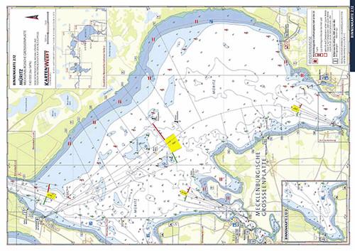 Müritz - Binnenmüritz - Röbeler Binnensee - Kleine Müritz/Binnenkarte
