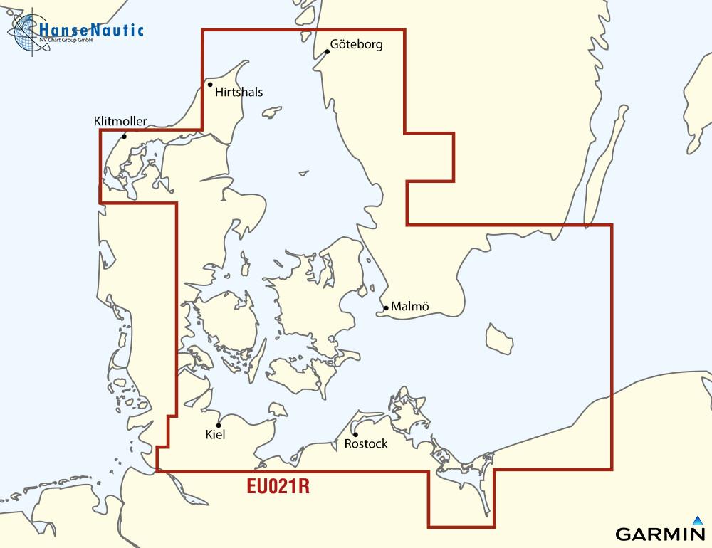BlueChart g3 Chip Regular HXEU021R-Denmark E and Sweden SE