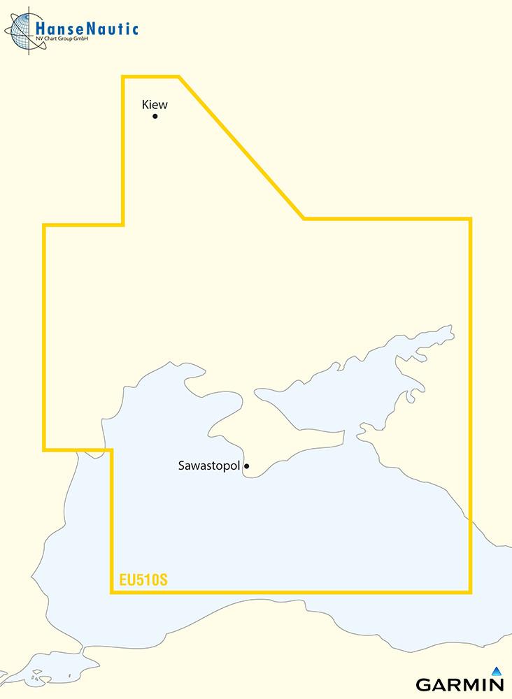 BlueChart g3 Vision Chip Small VEU510S-Black Dnieper River and Sea of Azov