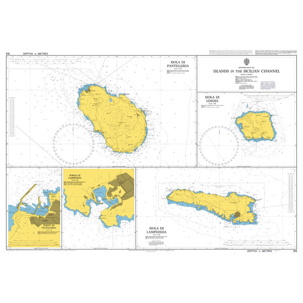 Islands in the Sicilian Channel. UKHO193