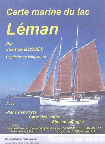 Carte marine du lac Léman