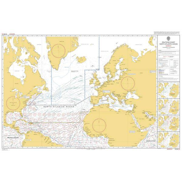 ADMIRALTY Routeing Charts North-Atlantic 5124