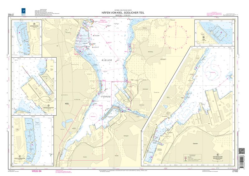 BSH 2182 Häfen von Kiel, südlicher Teil